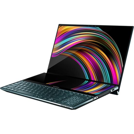 """Tovarniško obnovljen!  Prenosnik Asus ZenBook Pro DUO UX581GV-H2004R i7 / 16GB / 512GB SSD / 15,6"""" UHD OLED zaslon na dotik / NVIDIA GeForce RTX 2060 / Win 10 Pro (temno moder)"""